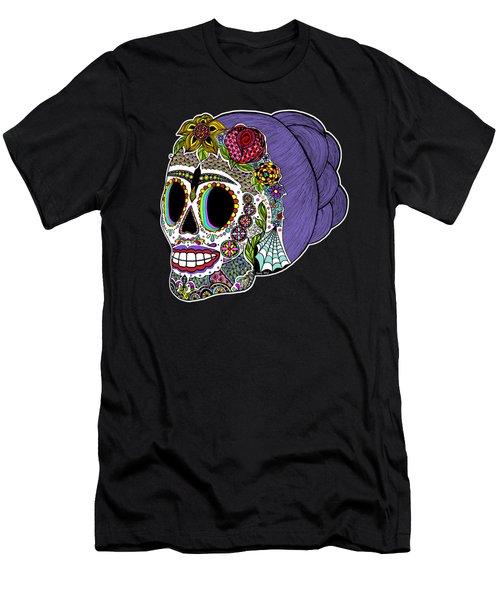 Catrina Sugar Skull Men's T-Shirt (Athletic Fit)