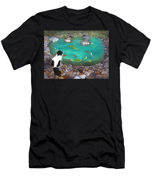 Cats And Koi Men's T-Shirt (Athletic Fit)