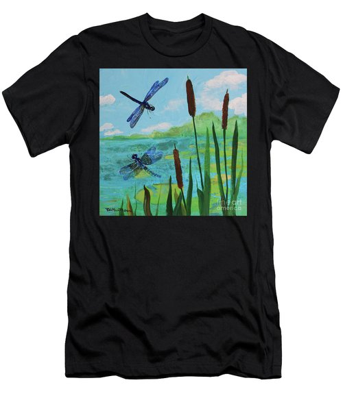Cattails And Dragonflies Men's T-Shirt (Athletic Fit)