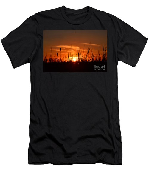 Cattails And Twilight Men's T-Shirt (Athletic Fit)