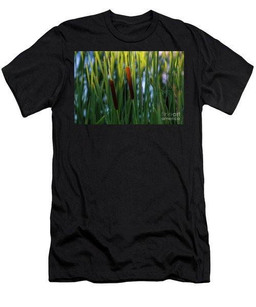 Cattails  Men's T-Shirt (Athletic Fit)