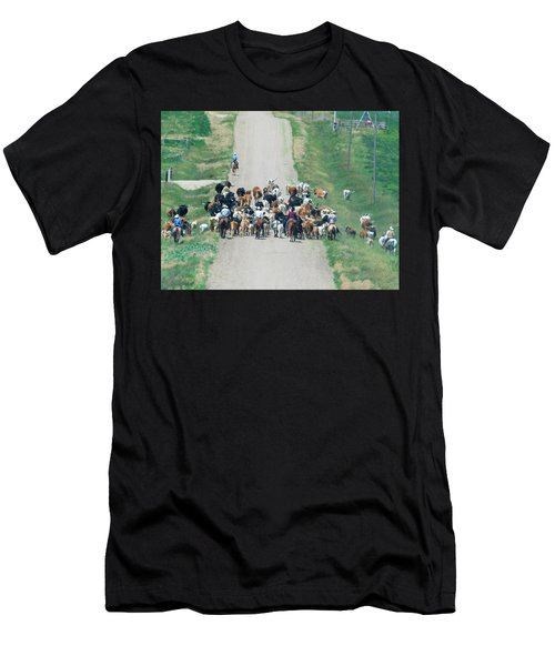 Cattle Drive Men's T-Shirt (Athletic Fit)