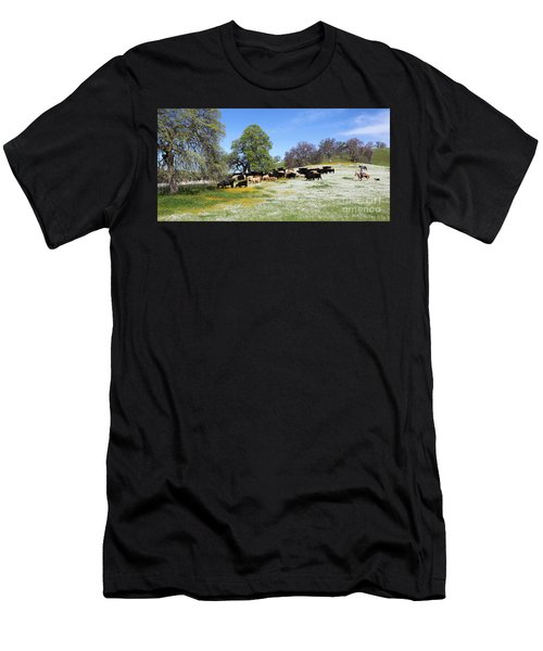 Cattle N Flowers Men's T-Shirt (Athletic Fit)