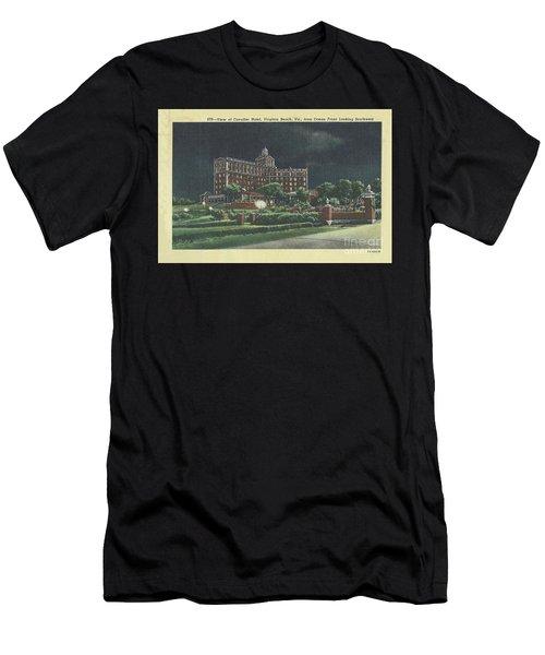 Cavalier Hotel Virginia Beach, Virginia 1940's Men's T-Shirt (Athletic Fit)