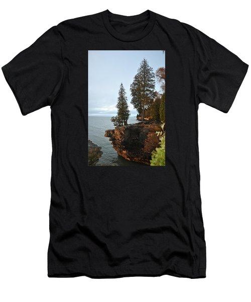 Cave Point Men's T-Shirt (Slim Fit) by Linda Goad
