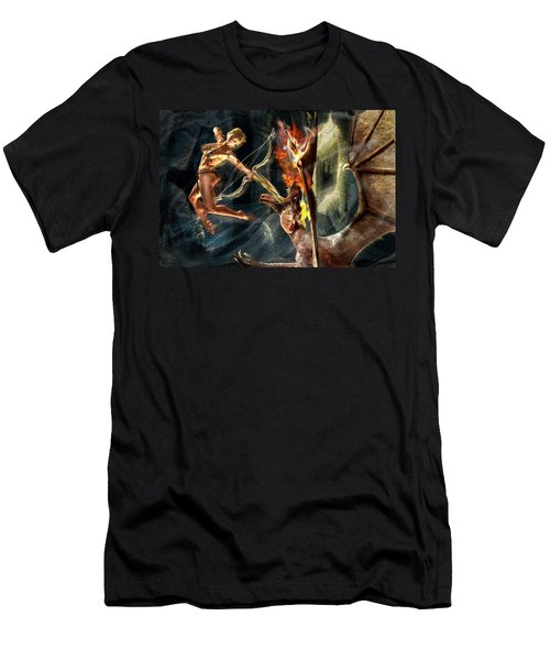 Caverns Of Light Men's T-Shirt (Athletic Fit)