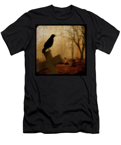 Cawing Night Crow Men's T-Shirt (Athletic Fit)