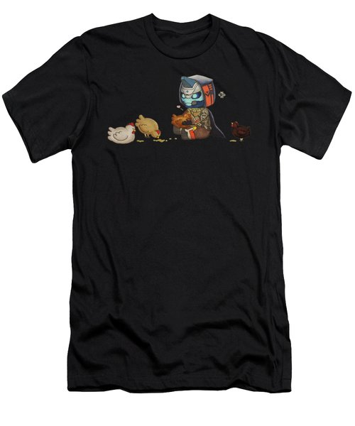 Cayde Loves Chickens Men's T-Shirt (Athletic Fit)