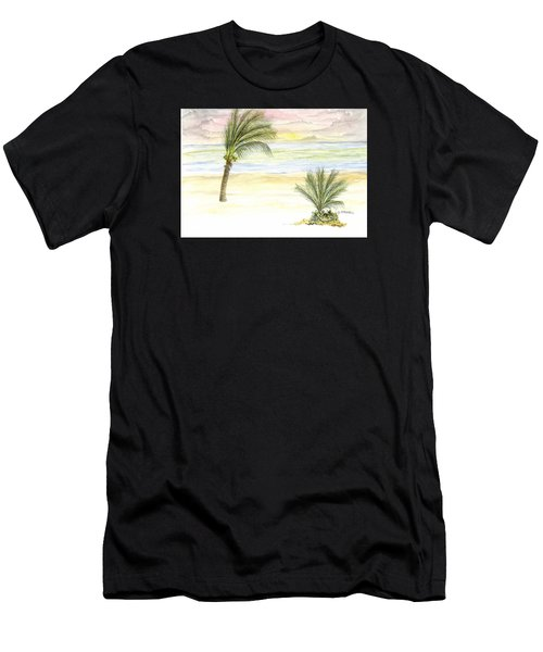Men's T-Shirt (Athletic Fit) featuring the digital art Cayman Beach by Darren Cannell