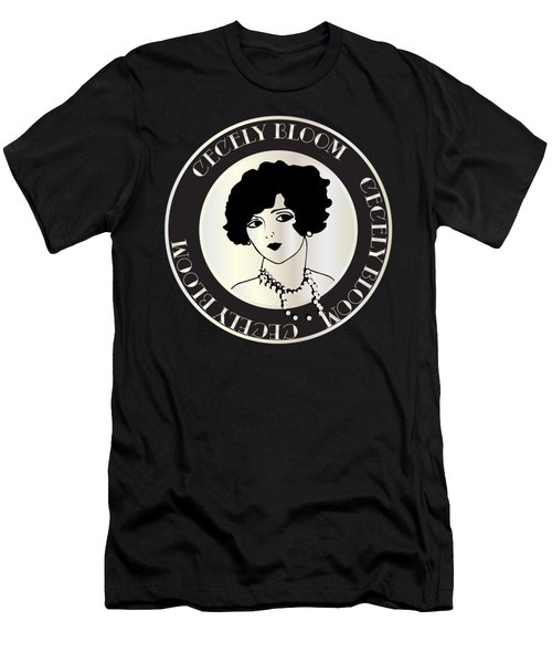 Cecely Bloom Deco Portrait Men's T-Shirt (Athletic Fit)