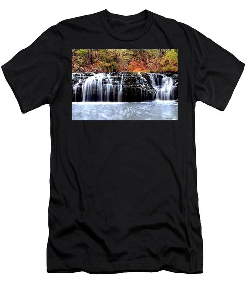 Cedar Creek Falls, Kansas Men's T-Shirt (Athletic Fit)