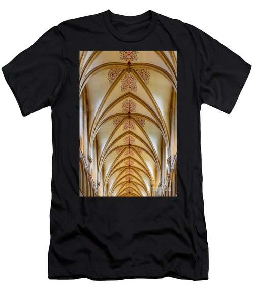 Ceiling, Wells Cathedral. Men's T-Shirt (Athletic Fit)