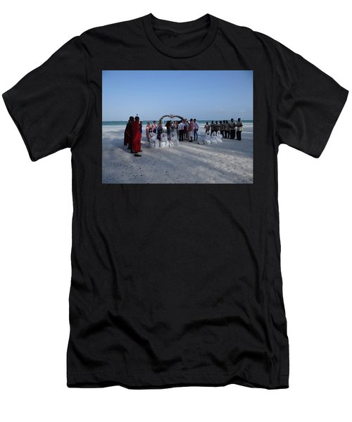 Celebrate Marriage On The Beach Men's T-Shirt (Athletic Fit)