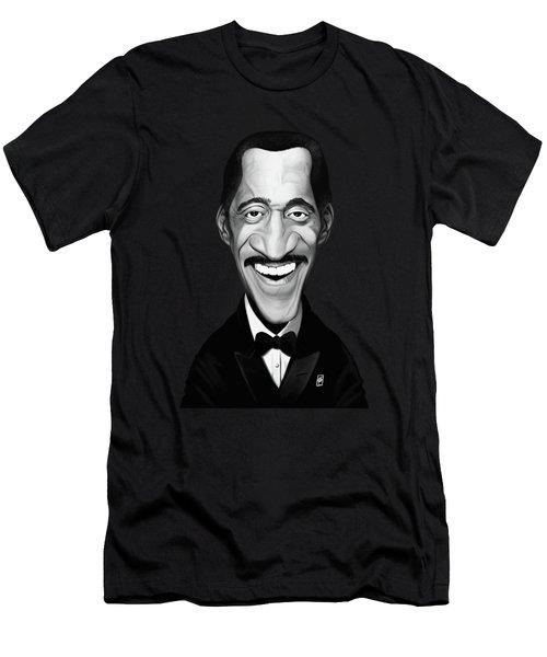 Men's T-Shirt (Athletic Fit) featuring the digital art Celebrity Sunday - Sammy Davis Jnr by Rob Snow