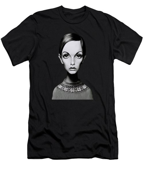 Celebrity Sunday - Twiggy Men's T-Shirt (Athletic Fit)