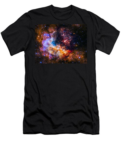 Celestial Fireworks Men's T-Shirt (Slim Fit) by Marco Oliveira