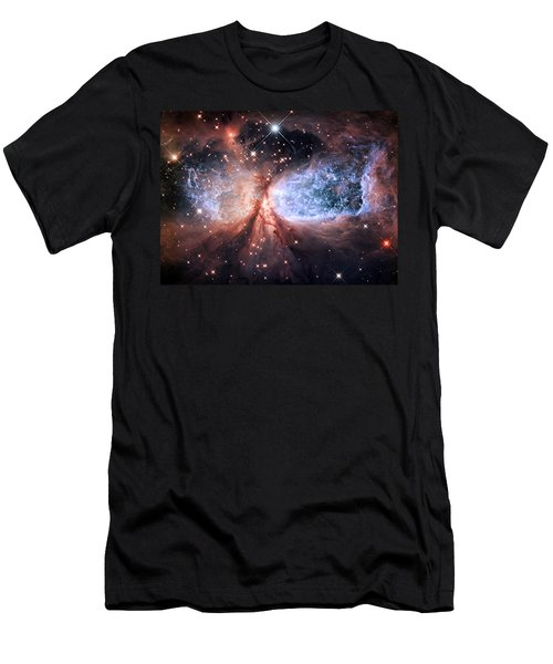 Men's T-Shirt (Slim Fit) featuring the photograph Celestial Snow Angel - Enhanced - Sharpless 2-106 by Adam Romanowicz