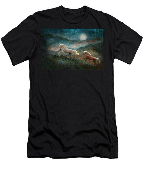 Celestial Stallions Men's T-Shirt (Slim Fit) by Melinda Hughes-Berland