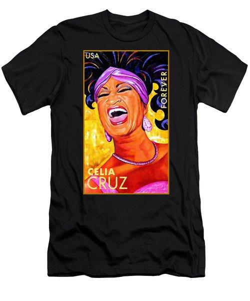 Celia Cruz Men's T-Shirt (Slim Fit) by Lanjee Chee