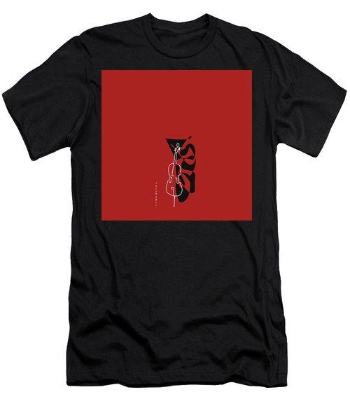 Cello In Orange Red Men's T-Shirt (Athletic Fit)