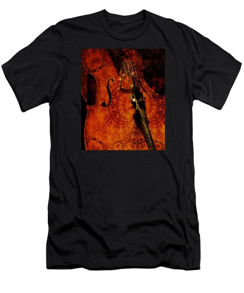 Cellos At Midnight Men's T-Shirt (Slim Fit) by Michele Cornelius