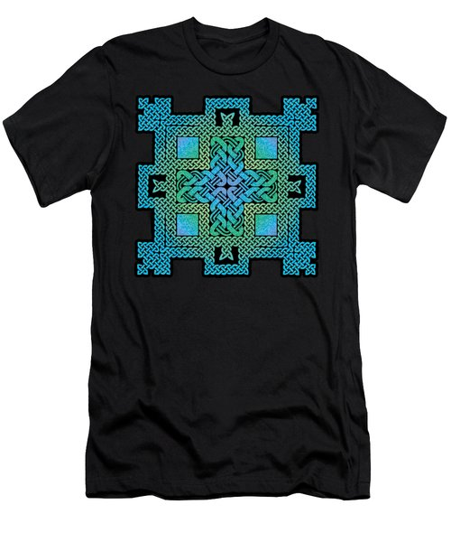 Men's T-Shirt (Slim Fit) featuring the mixed media Celtic Castle by Kristen Fox