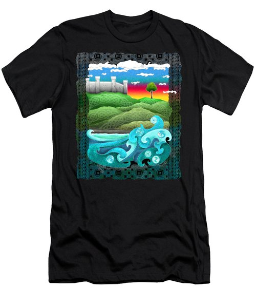 Celtic Castle Tor Men's T-Shirt (Athletic Fit)