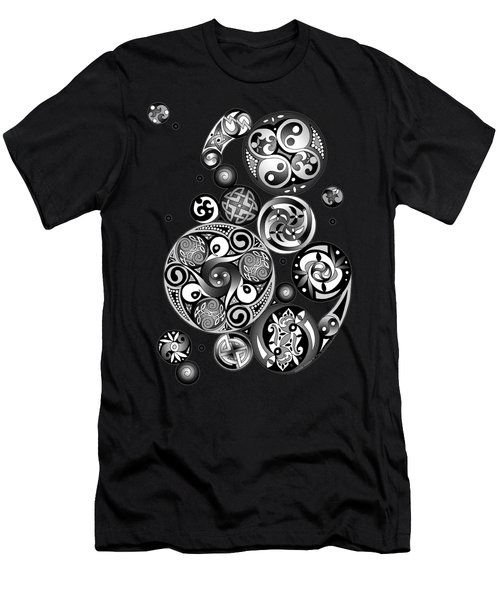 Men's T-Shirt (Slim Fit) featuring the mixed media Celtic Clockwork by Kristen Fox