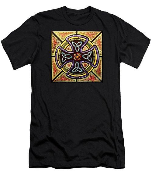 Celtic Cross 2 Men's T-Shirt (Slim Fit) by Jim Harris