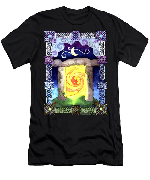 Men's T-Shirt (Slim Fit) featuring the painting Celtic Doorway by Kristen Fox