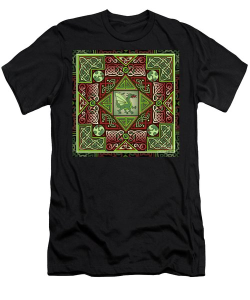 Celtic Dragon Labyrinth Men's T-Shirt (Athletic Fit)