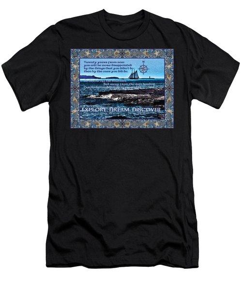 Celtic Explorer - Bluenose II In Halifax Harbour Men's T-Shirt (Athletic Fit)
