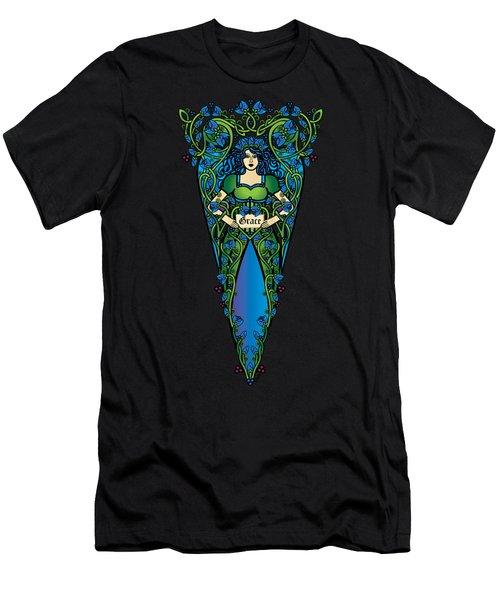 Celtic Forest Fairy- Grace Men's T-Shirt (Athletic Fit)