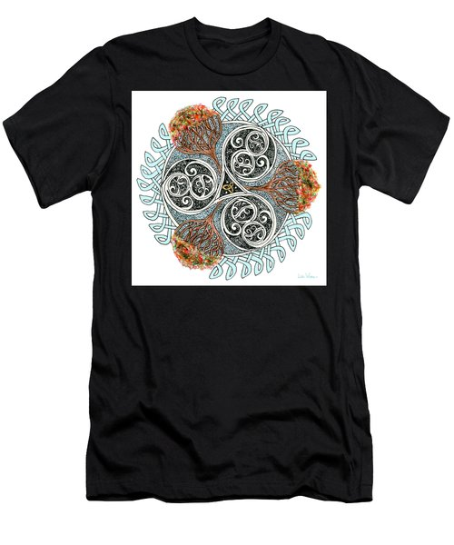Celtic Knot With Autumn Trees Men's T-Shirt (Athletic Fit)