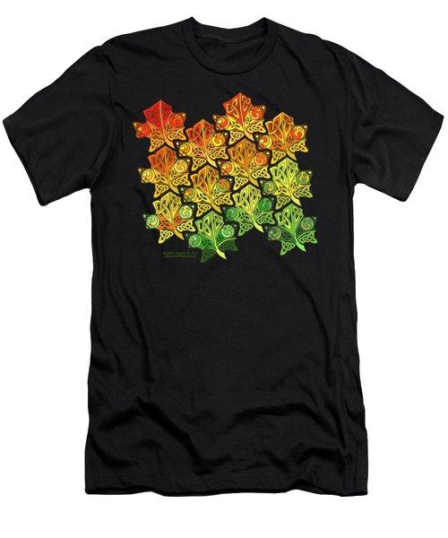 Celtic Leaf Transformation Men's T-Shirt (Athletic Fit)