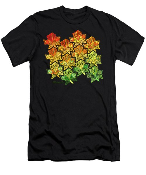 Celtic Leaf Transformation Men's T-Shirt (Athletic Fit)