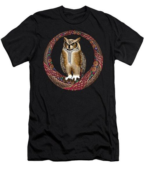 Celtic Owl Men's T-Shirt (Athletic Fit)