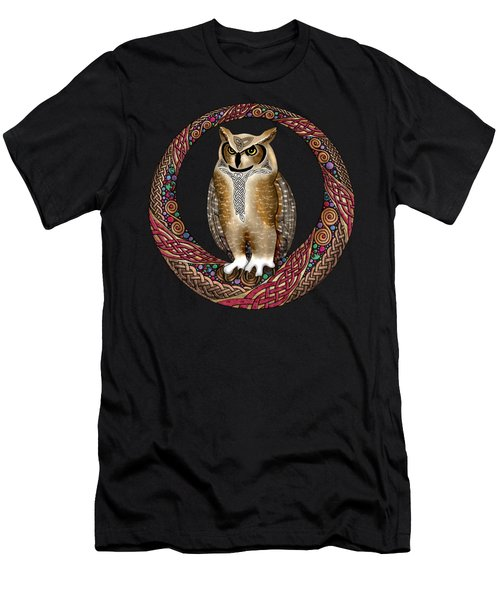 Celtic Owl Men's T-Shirt (Athletic Fit)