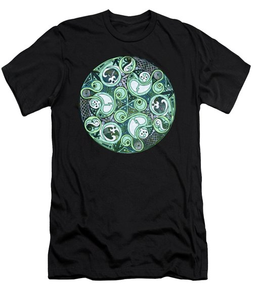 Celtic Stormy Sea Mandala Men's T-Shirt (Athletic Fit)
