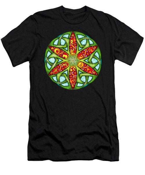 Celtic Summer Mandala Men's T-Shirt (Athletic Fit)
