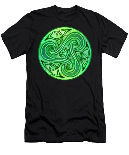 Men's T-Shirt (Slim Fit) featuring the mixed media Celtic Triskele by Kristen Fox