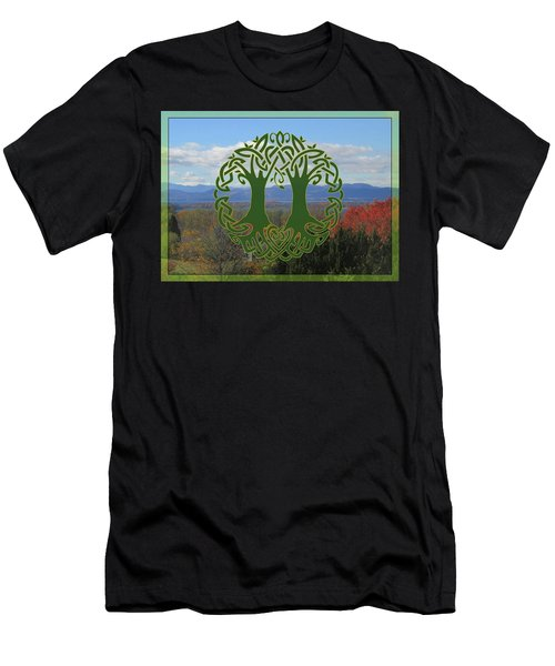 Celtic Wedding Tree In Green Men's T-Shirt (Athletic Fit)