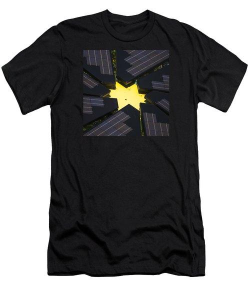Center Of Solar Panel Array Men's T-Shirt (Athletic Fit)