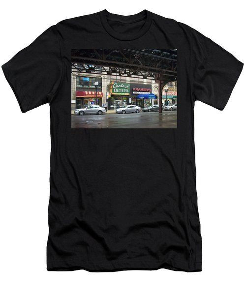 Central Camera On Wabash Ave  Men's T-Shirt (Athletic Fit)