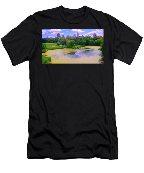 Central Park And Lake, Manhattan Ny Men's T-Shirt (Athletic Fit)