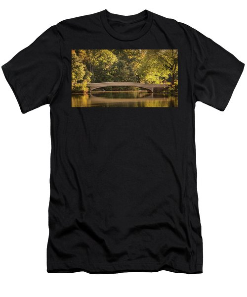 Men's T-Shirt (Athletic Fit) featuring the photograph Central Park Bridge by Francisco Gomez