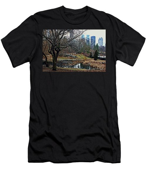 Men's T-Shirt (Slim Fit) featuring the photograph Central Park In January by Sandy Moulder