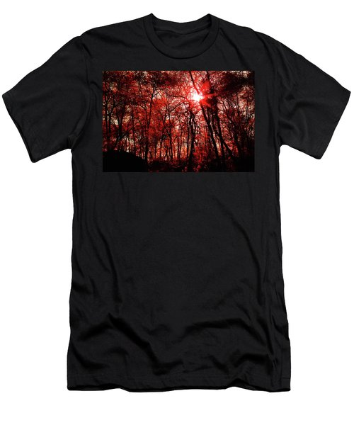 Men's T-Shirt (Athletic Fit) featuring the photograph Central Park  by Lucian Capellaro