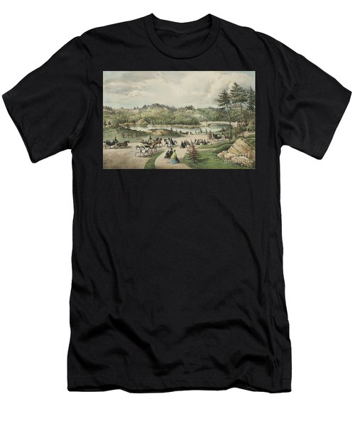 Central Park  The Lake, 1862  Men's T-Shirt (Athletic Fit)