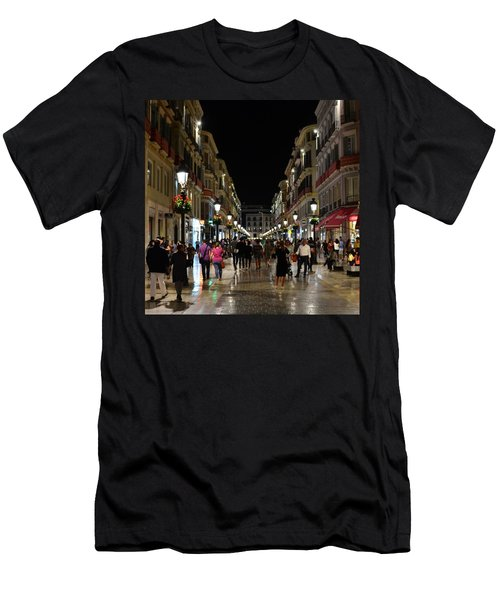 Centro De Malaga By Night - #ig_malaga Men's T-Shirt (Athletic Fit)